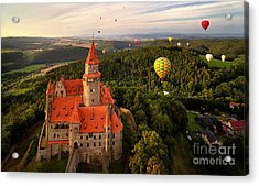 Aerial View On Romantic Fairy Castle Acrylic Print
