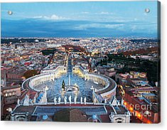 Aerial View On Rome, Italy. Evening Acrylic Print