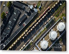 Aerial View Over The Railway Acrylic Print