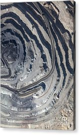 Aerial View To The Iron Ore Open Mine Acrylic Print