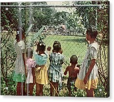 African American Children Peering Acrylic Print by Gordon Parks