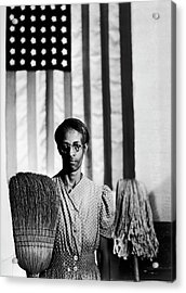 African American Cleaning Woman Ella Acrylic Print