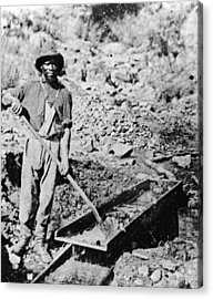 African-american Gold Miner Acrylic Print by Hulton Archive