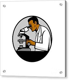 African American Research Scientist Mascot Acrylic Print