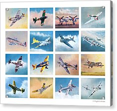 Airplane Poster Acrylic Print