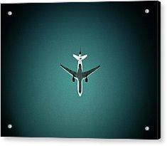 Airplane Silhouette Acrylic Print