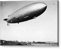 Airship Aloft Acrylic Print by Hulton Archive
