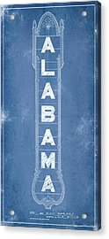Alabama Theatre Marquee Blueprint Acrylic Print
