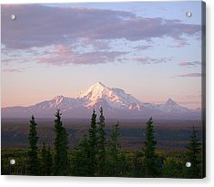 Acrylic Print featuring the photograph Alaska Mountain Sunset by Mark Duehmig