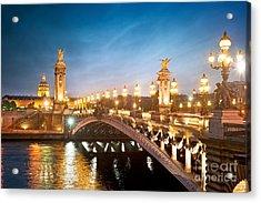 Alexandre 3 Bridge - Paris - France Acrylic Print