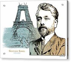 Alexandre Gustave Eiffel Acrylic Print