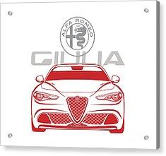 Alfa 2017 Giulia Acrylic Print