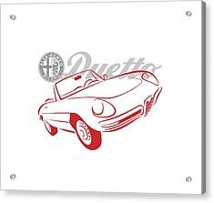 Alfa Duetto Spider-1 Acrylic Print