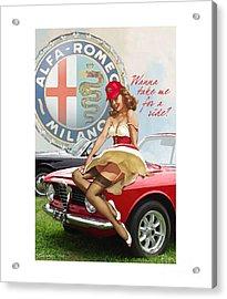 Alfa Giulia Sprint Gt Babe Acrylic Print