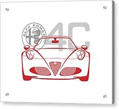 Alfa Romeo 4c-2 Acrylic Print