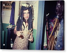 Alice Cooper Dressed As Cleopatra Acrylic Print