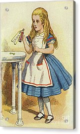 Alice Discovers A Bottle Marked Drink Me Acrylic Print