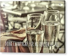 All Sparkling Quote Acrylic Print by JAMART Photography