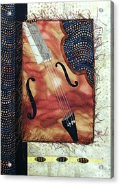 All That Jazz Bass Acrylic Print