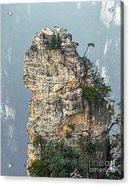 Alone Rock Column Mountain Avatar Acrylic Print