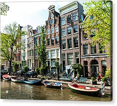 Along An Amsterdam Canal Acrylic Print