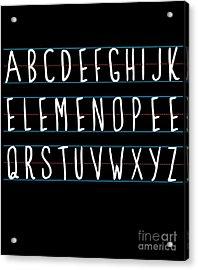 Alphabet Elemeno Acrylic Print
