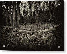 Alpine Benders Cemetery Acrylic Print