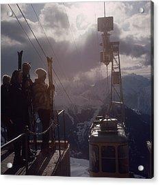 Alpine Skiing Acrylic Print by Slim Aarons
