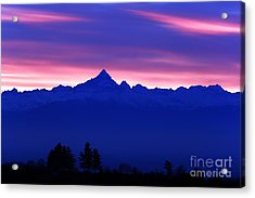 Alps Landscape At Sunset With The Acrylic Print