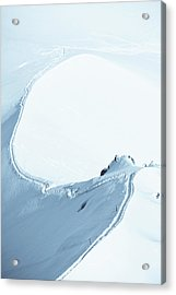Alps Snow Mountain Adventure - Xlarge Acrylic Print by Phototalk