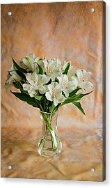 Alstroemeria Bouquet On Canvas Acrylic Print