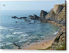 Amalia Beach From Cliffs Acrylic Print