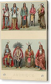 American Chiefs Acrylic Print by Hulton Archive