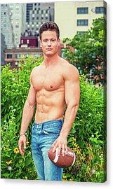 American City Boy.  Acrylic Print