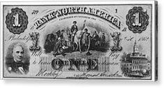 American Civil War Currency Acrylic Print by Kean Collection