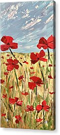 Among The Poppies     1 Of 2 Acrylic Print