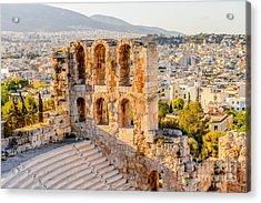 Amphitheater Of The Acropolis Of Acrylic Print