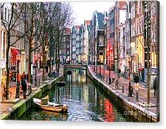 Amsterdam Red Light District Days Acrylic Print