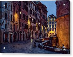 An Evening In Rome Acrylic Print