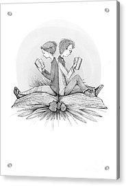 An Open Book Acrylic Print