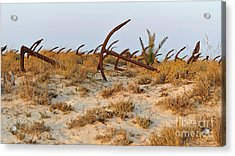Anchors In Barril Beach Acrylic Print