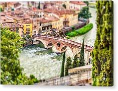 Ancient Roman Bridge Called Ponte Di Acrylic Print