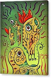 Acrylic Print featuring the digital art Ancient Spirit by Sotuland Art