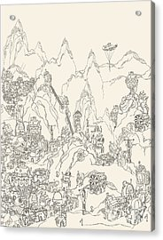 Ancient Steampunk Civilization Acrylic Print