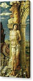 Andrea Mantegna St. Sebastian. Date/period 1457 - 1459. Painting. Oil On Wood. Acrylic Print
