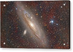 Andromeda With Hydrogen Clouds Acrylic Print