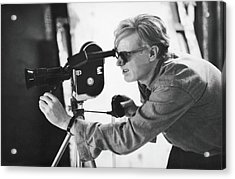 Andy Warhol Lines Up A Shot Acrylic Print by Fred W. Mcdarrah