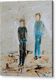 Angel Boys On A Dirt Road Acrylic Print