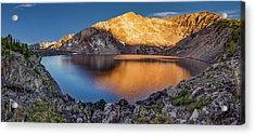 Angel Lake Acrylic Print by Leland D Howard