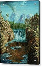 Angeln Acrylic Print by Pobytov
